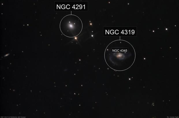 NGC 4319 with Markarian 205 quasar