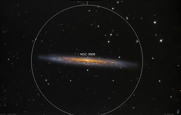 NGC 5907 - Splinter Galaxy in Draco