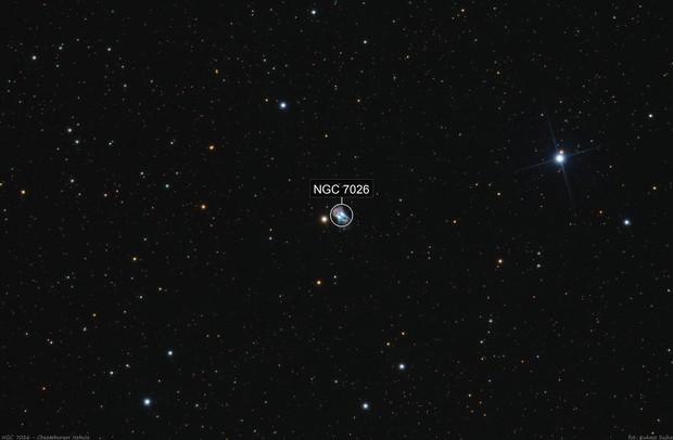 NGC 7026 - Cheeseburger Nebula (wide field)