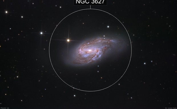 Messier 66 - part of Leo Triplet