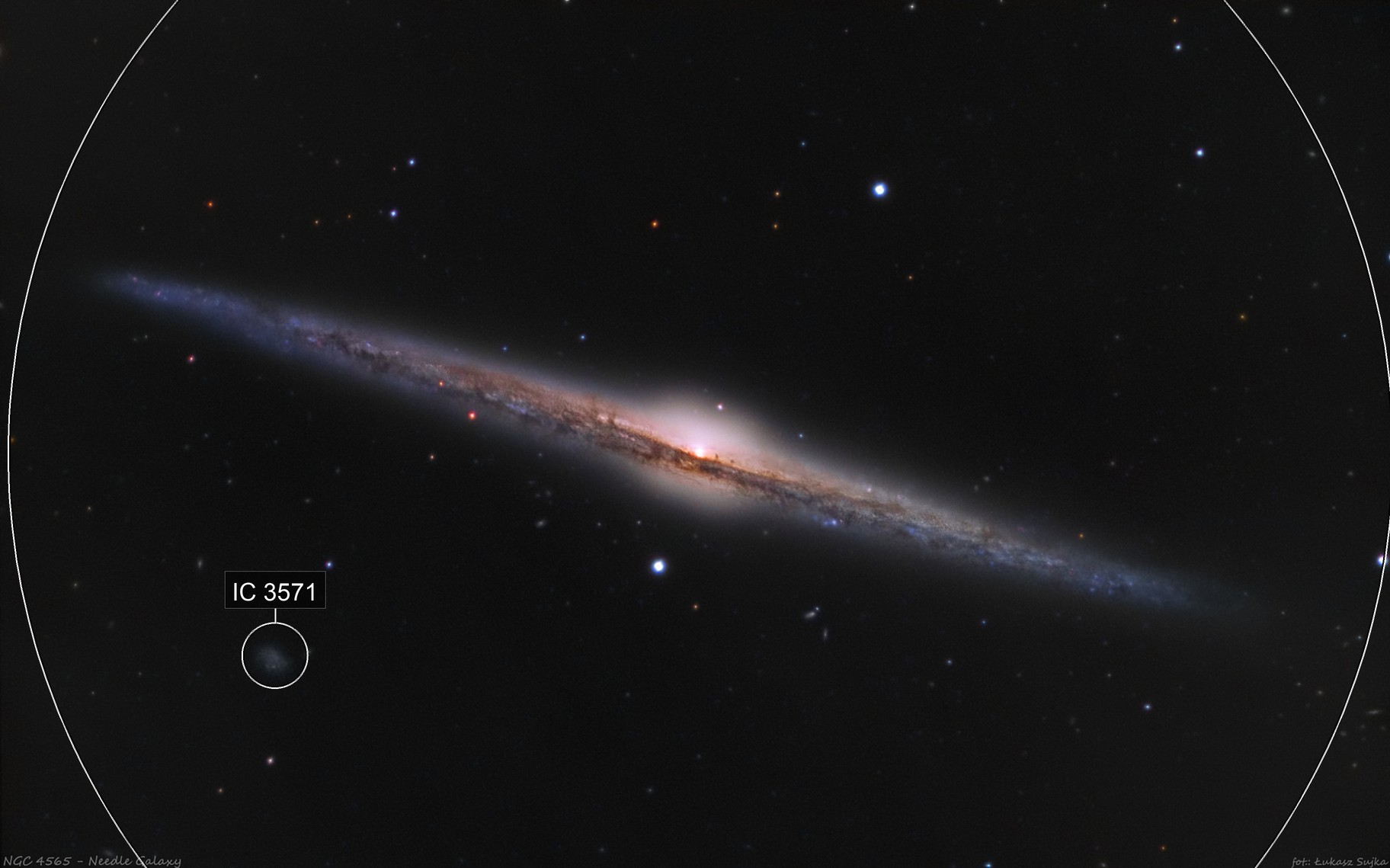 NGC 4565 - Needle Galaxy (in big scale)