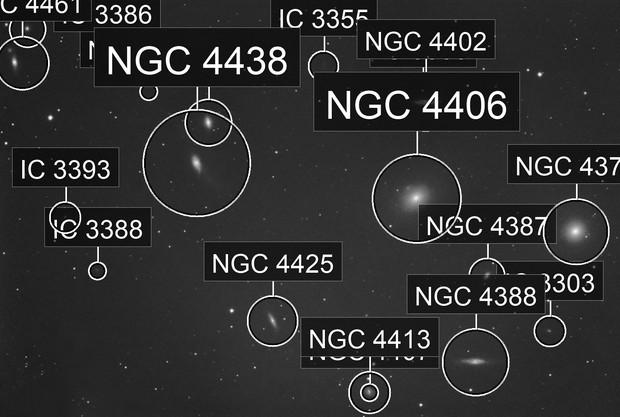 Virgu galaxy cluster