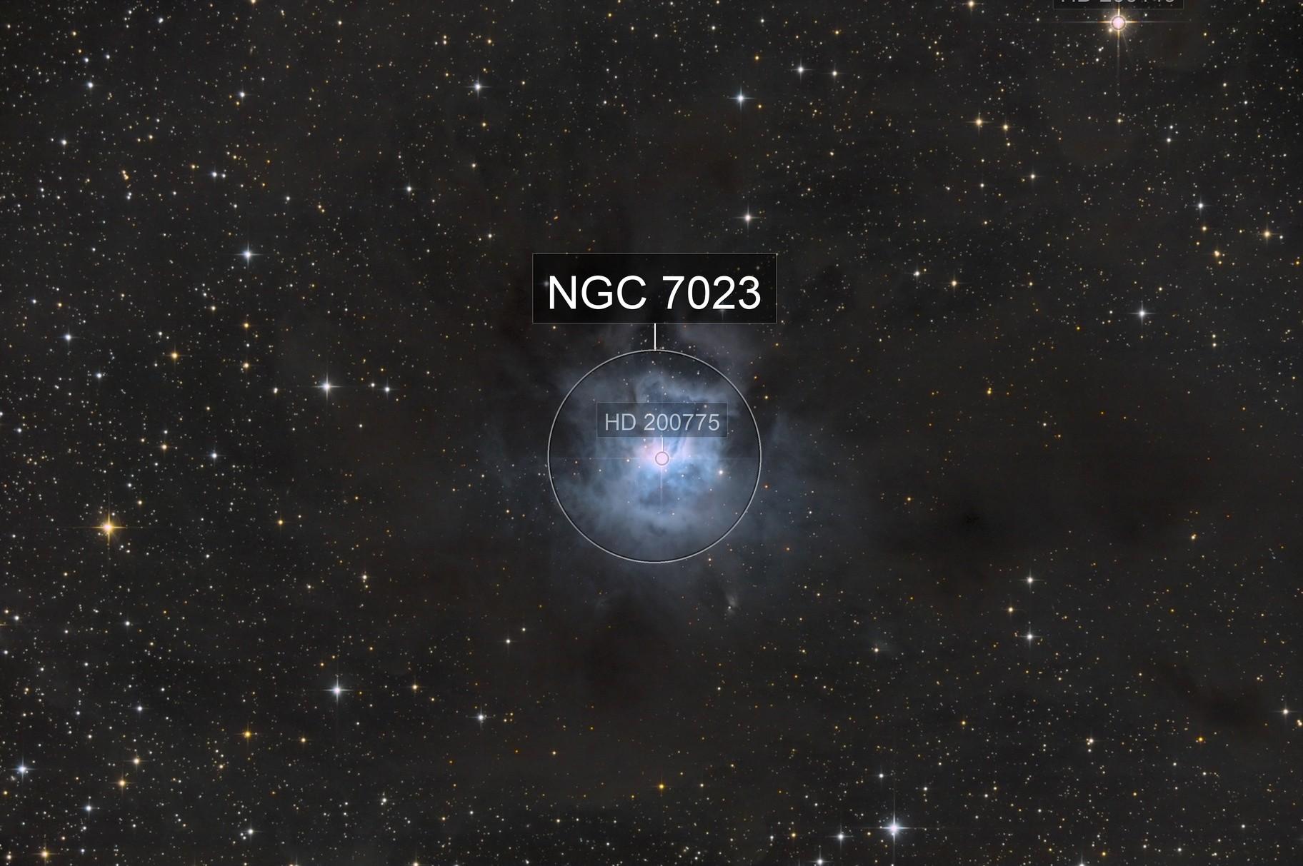 NGC 7023 , Iris