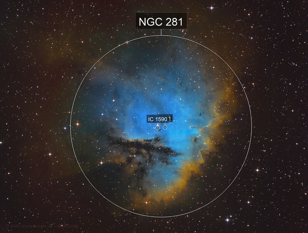NGC 281 Pacman in hubble colors