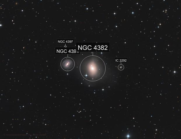 M85 aka NGC 4382 & NGC 4394