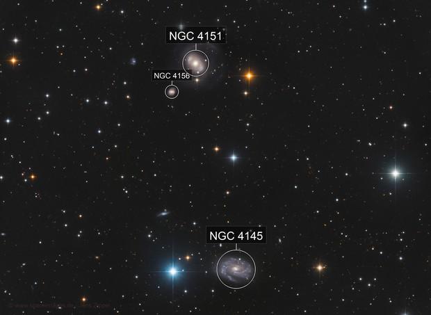 NGC 4151 and NGC 4145