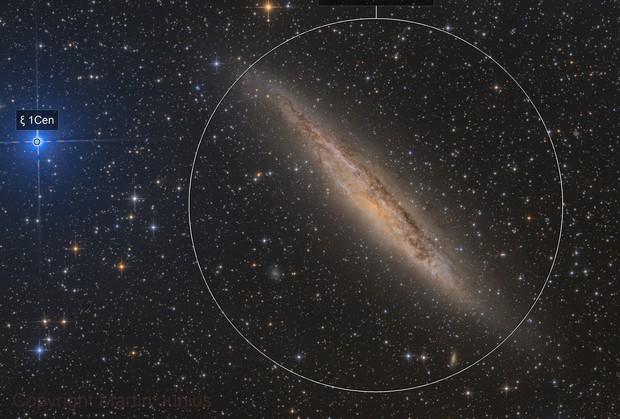 Xi and NGC 4945 - Galaxy in Centaurus
