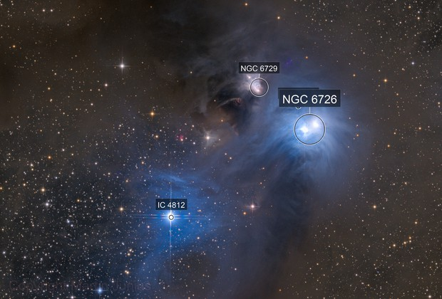 NGC 6726/27/29 - Reflection Nebulae in Corona Australis