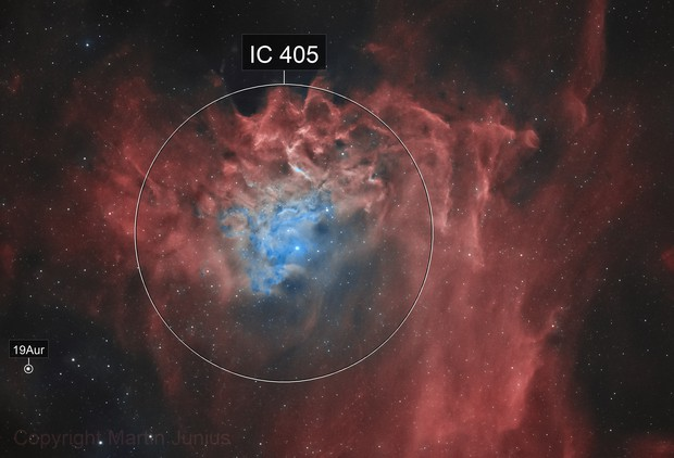 IC 405 - Flaming Star Nebula - Bicolor