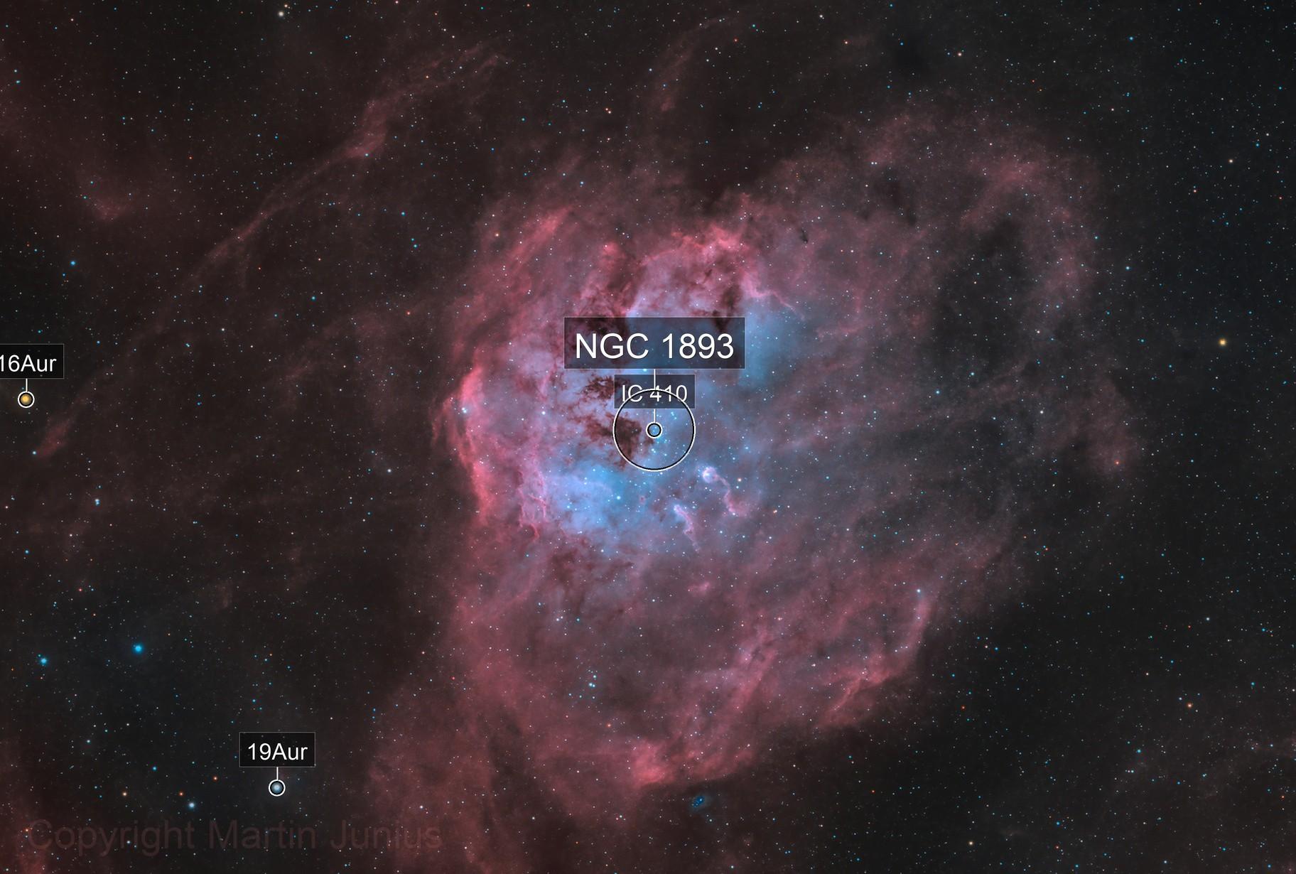 IC 410 - Tadpole Nebula - Dec/Jan/Feb 2020/21 - Bicolor v1