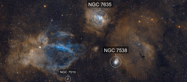 NGC 7635 - Three piece mosaic