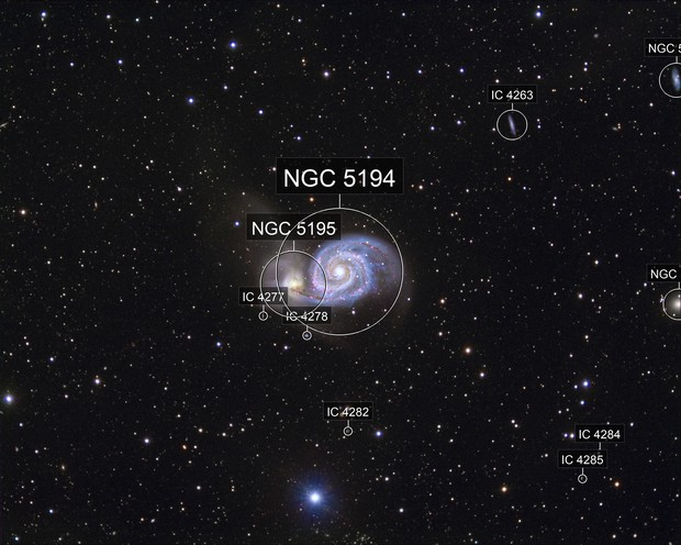 M51 (NGC 5194) Whirlpool Galaxy