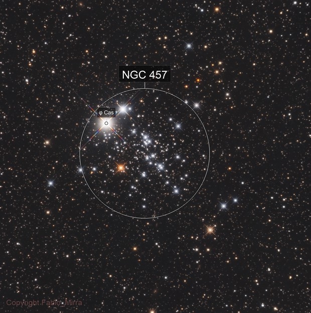 NGC457 - E.T. / Owl Cluster