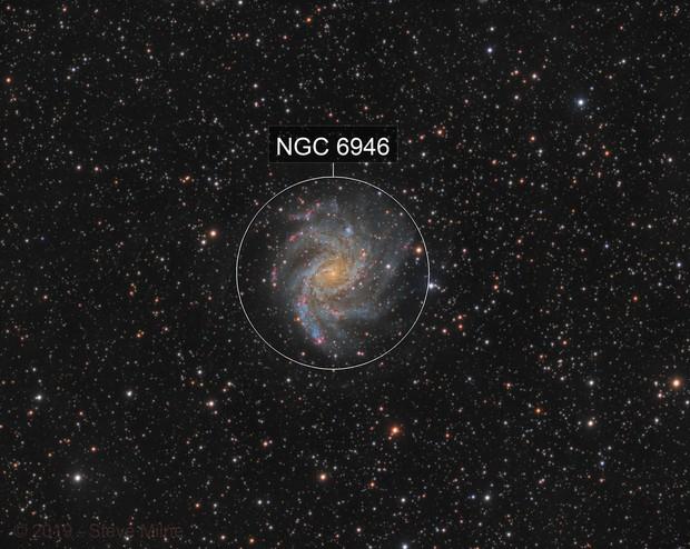 Fireworks Galaxy - NGC 6946 in Cepheus