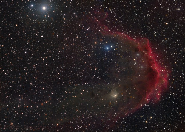 LBN 878 & Barnard 35 in Orion - Two Panel Mosaic