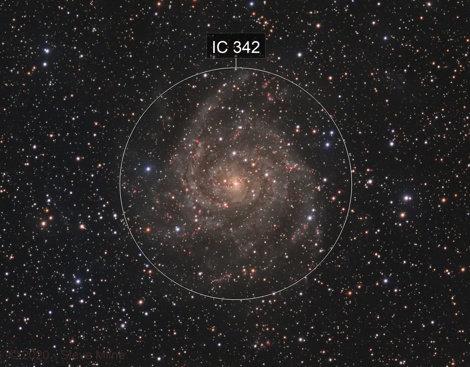 IC 342 (Caldwell 5) - the Hidden Galaxy in Camelopardalis