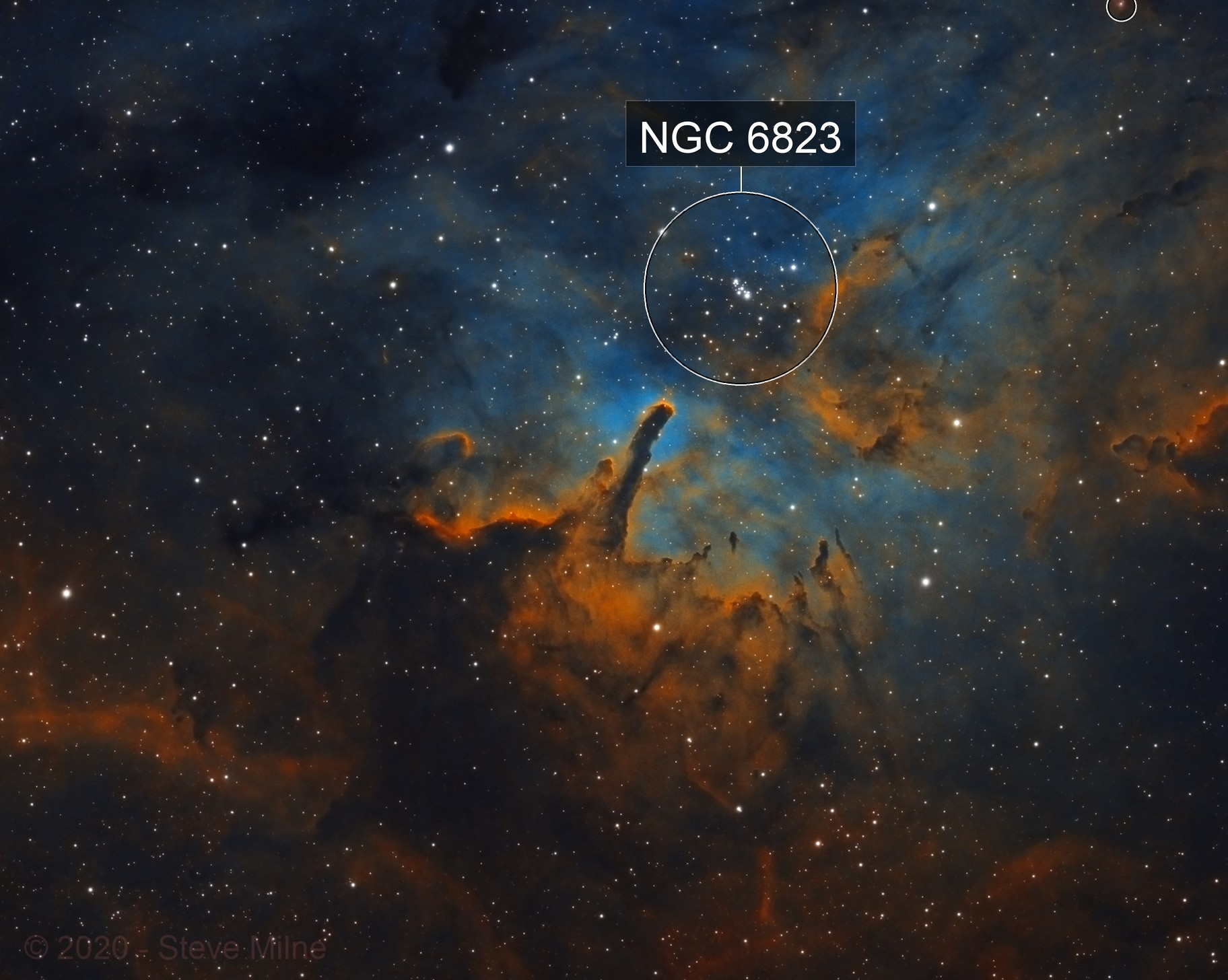 NGC 6820 and NGC 6823 in Vulpecula