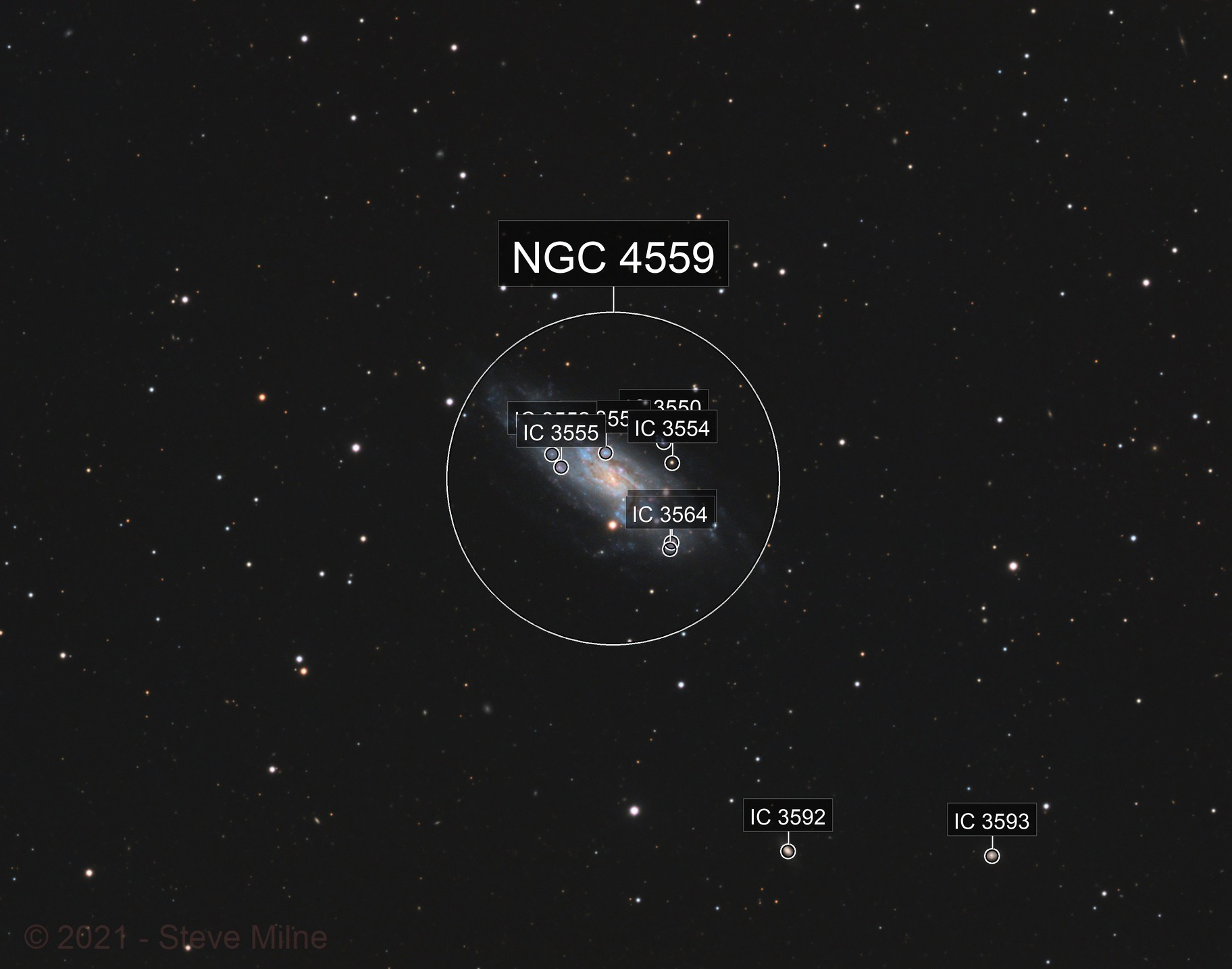 NGC 4559 (Caldwell 36) in Coma Berenices