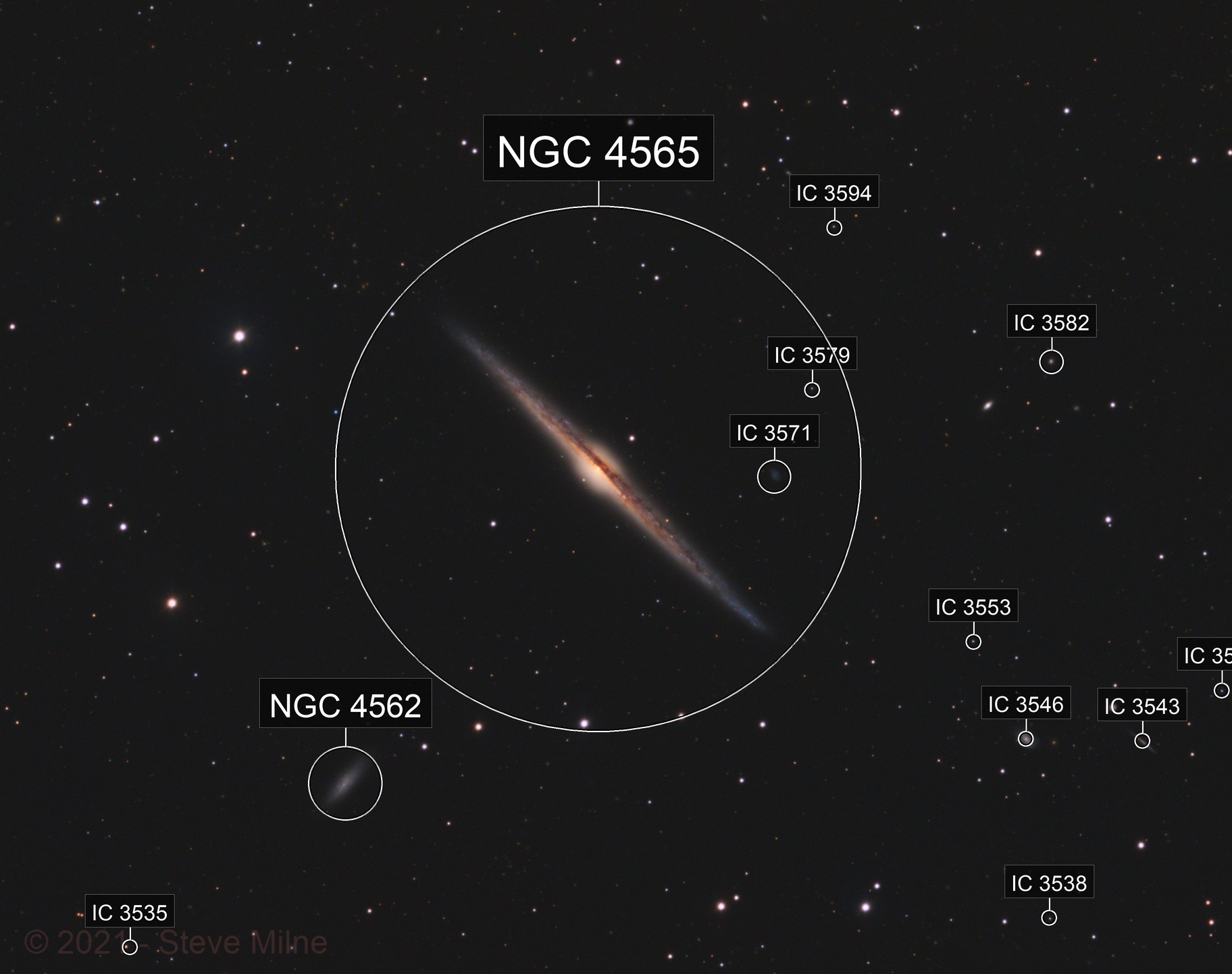 The Needle Galaxy in Coma Berenices