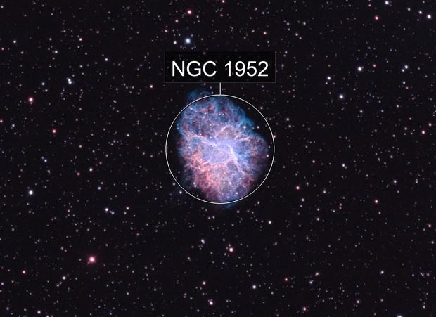 M1 The Crab Nebula in HOO