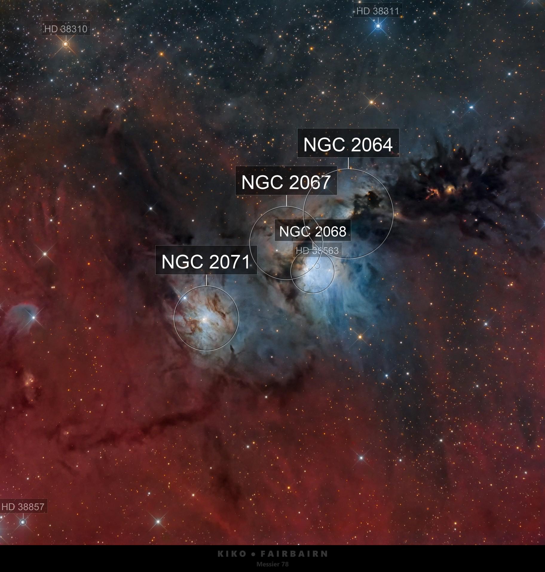 Messier 78   NGC 2068   LRGB