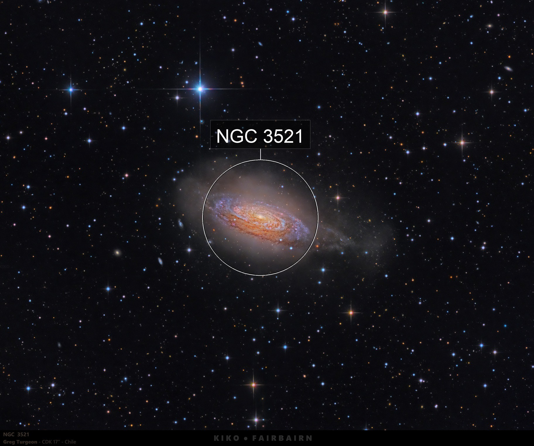 The Bubble Galaxy   NGC 3521   DSW   2nd Round