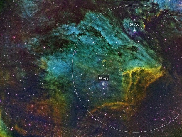 Pelican Nebula in SHO