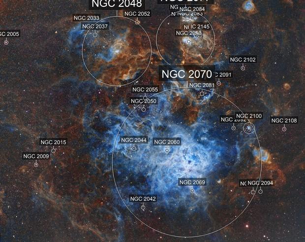 NGC 2070 - Tarantula Nebula in SHO(modified)