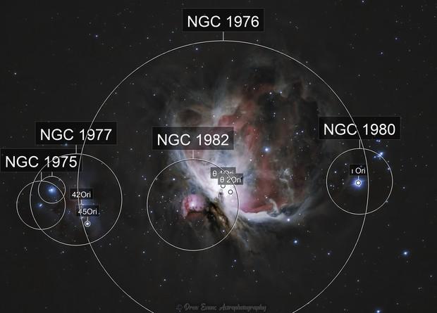 The Great Orion Nebula (M42) and Running Man Nebula (M43)