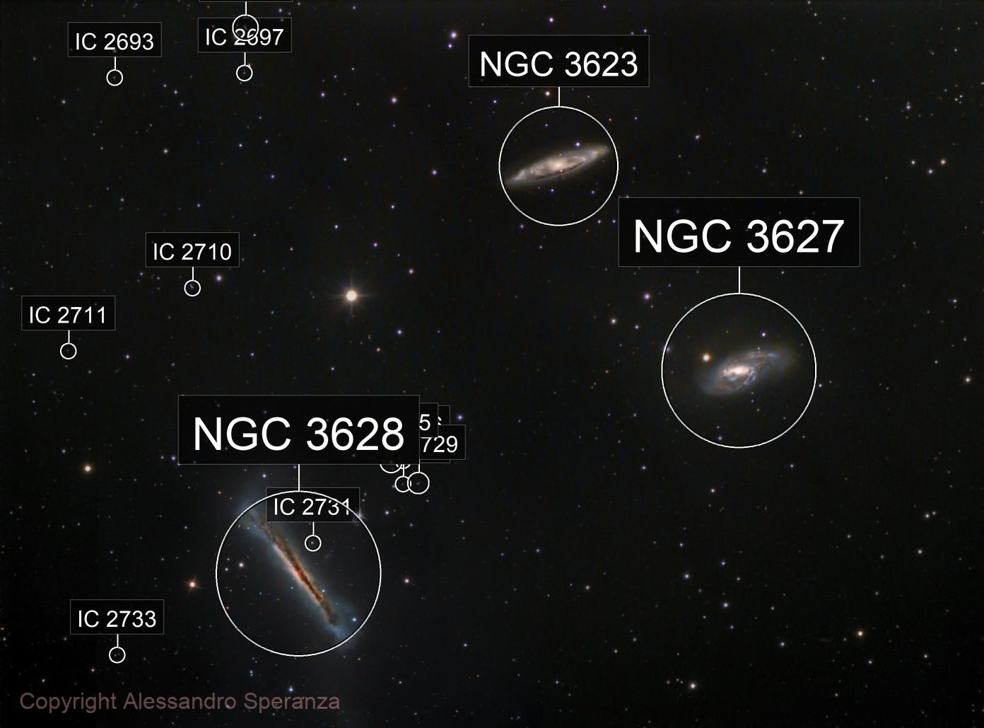 Tripletto  Leone NGC3628 M65 M66