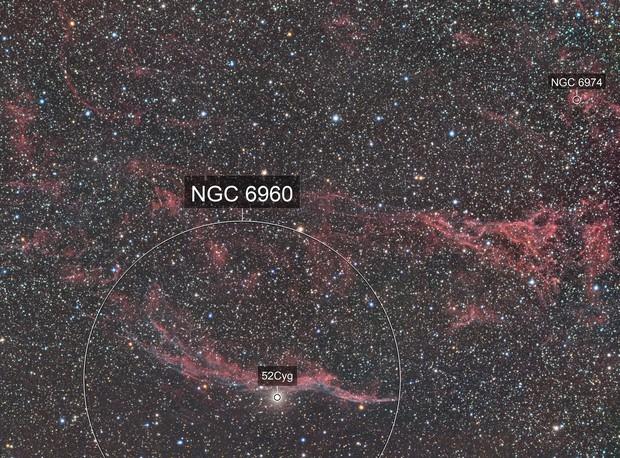 Western Veil Nebula RGB