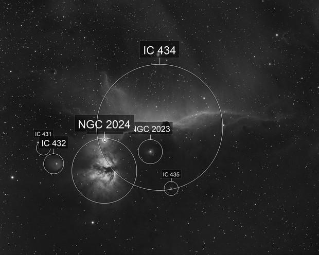 IC434 - 1st light of TS Optics 61EDPH
