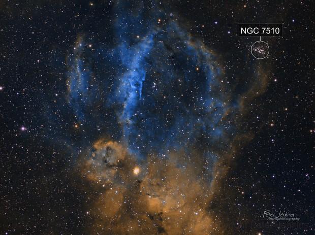 SH2-157 Lobster Claw Nebula
