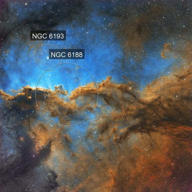 NGC6188 Fighting Dragons Nebula