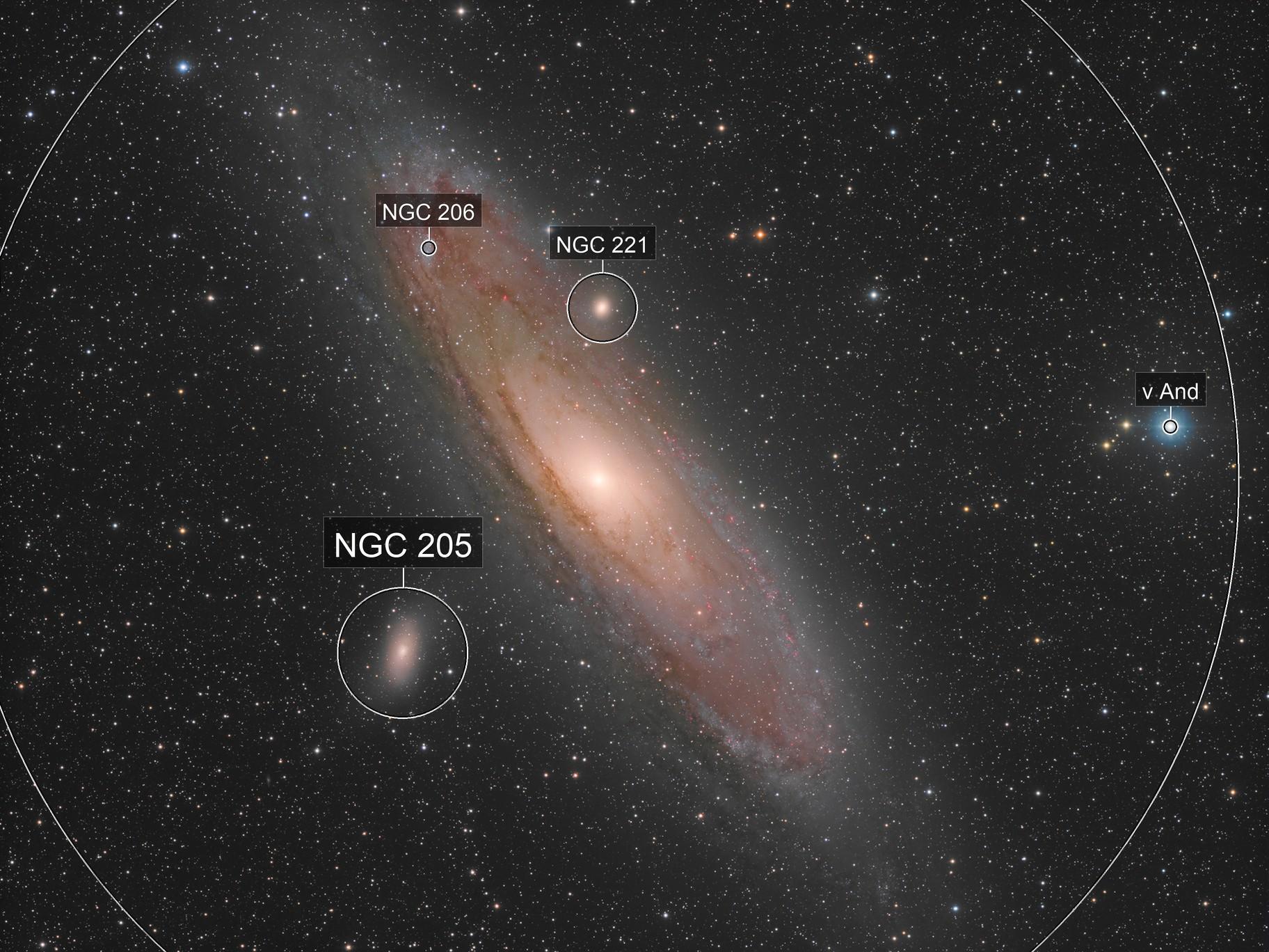 La galaxie d'Andromède (M31) - Sadr Espagne