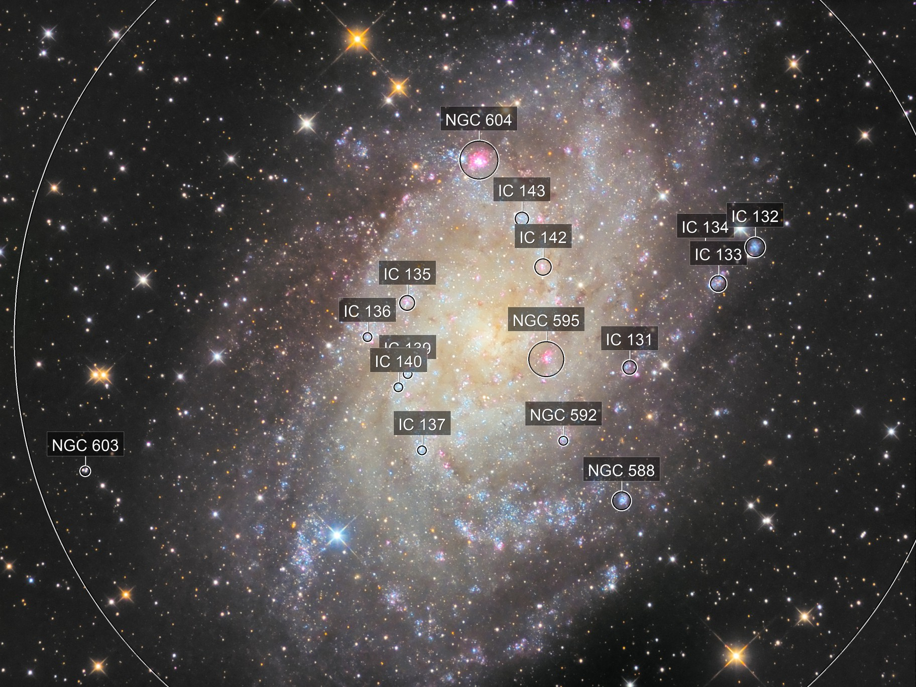 Galaxie du triangle (M33) - Sadr Observatory