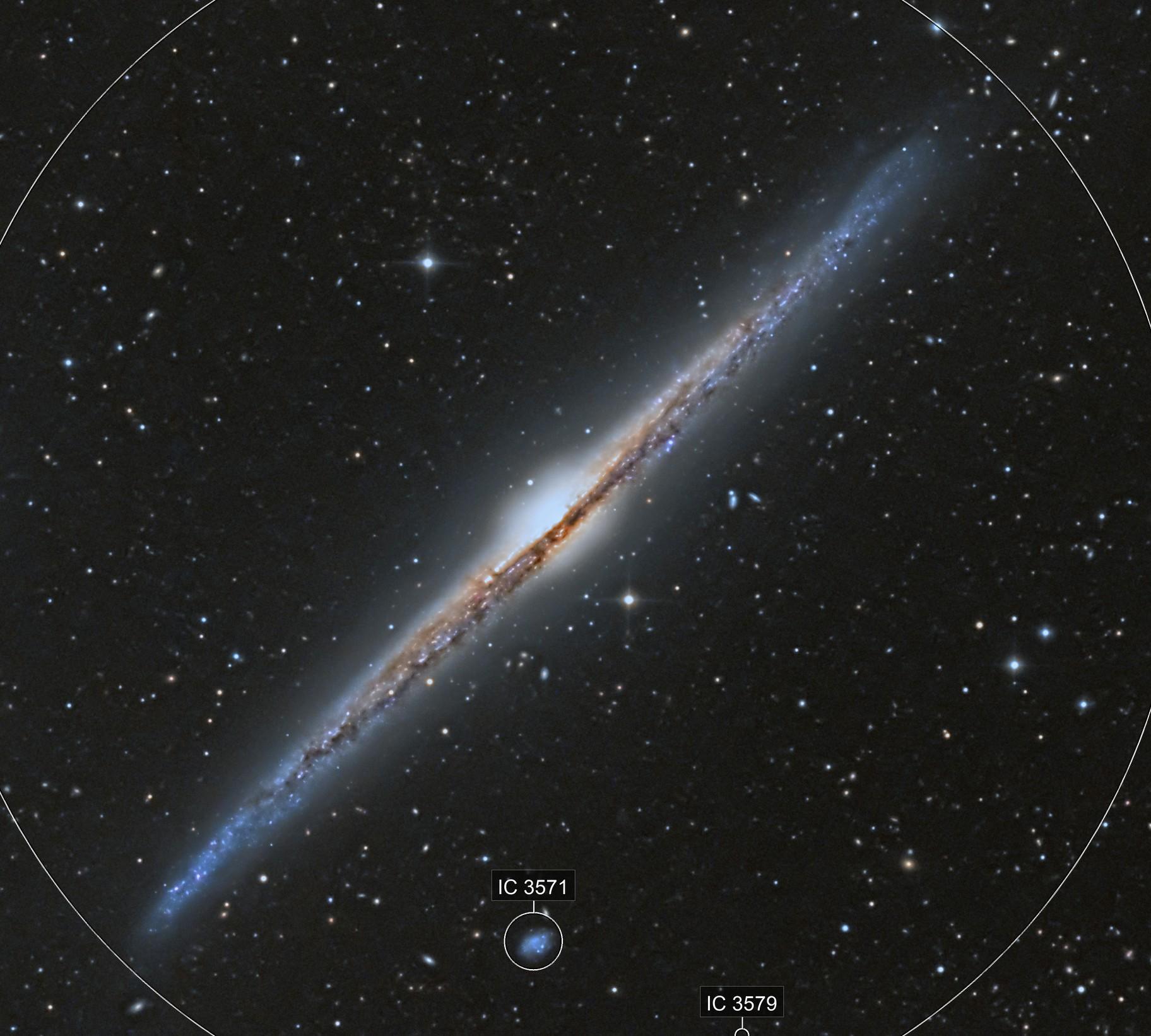The Needle Galaxy minus Cosmic Dust (Crisp Version)