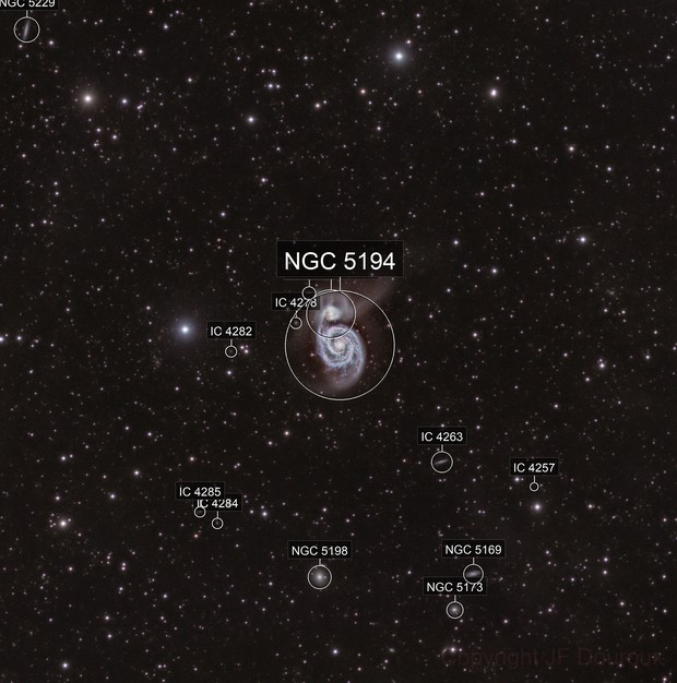 Whirpool Galaxy in L(RH)GB