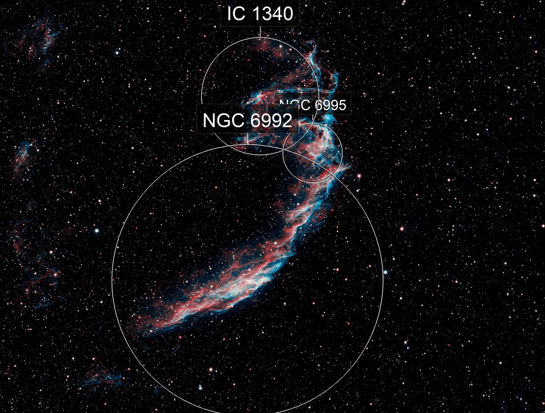 Eastern Veil Nebula in HOO