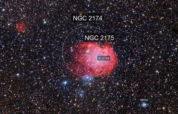 NGC2174 Monkeyhead Nebula region. DSLR Image