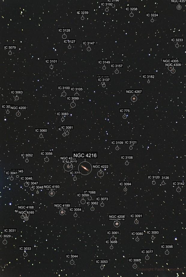 Galaxy field in virgo