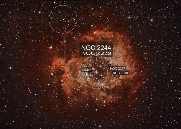 NGC 2237, NGC 2238, NGC 2239, NGC 2246,  NGC 2244
