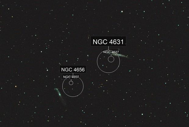 NGC 4631 NGC 4656