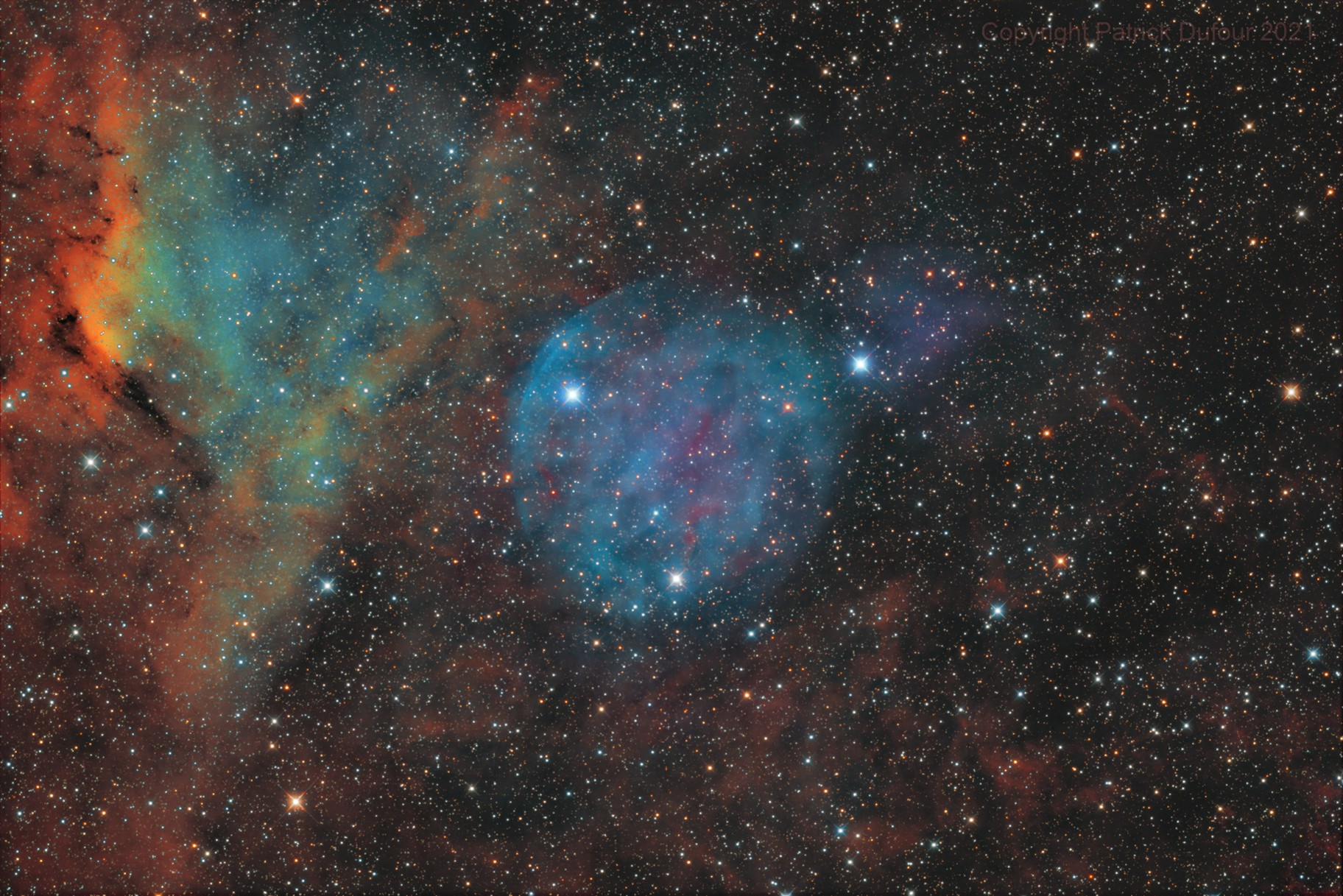 PaRasMoMi-1 Large Bubble Nebula in Monoceros  - New Discovery!!!