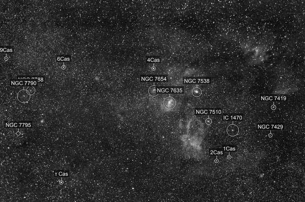 Bubble Nebula wide field in Ha