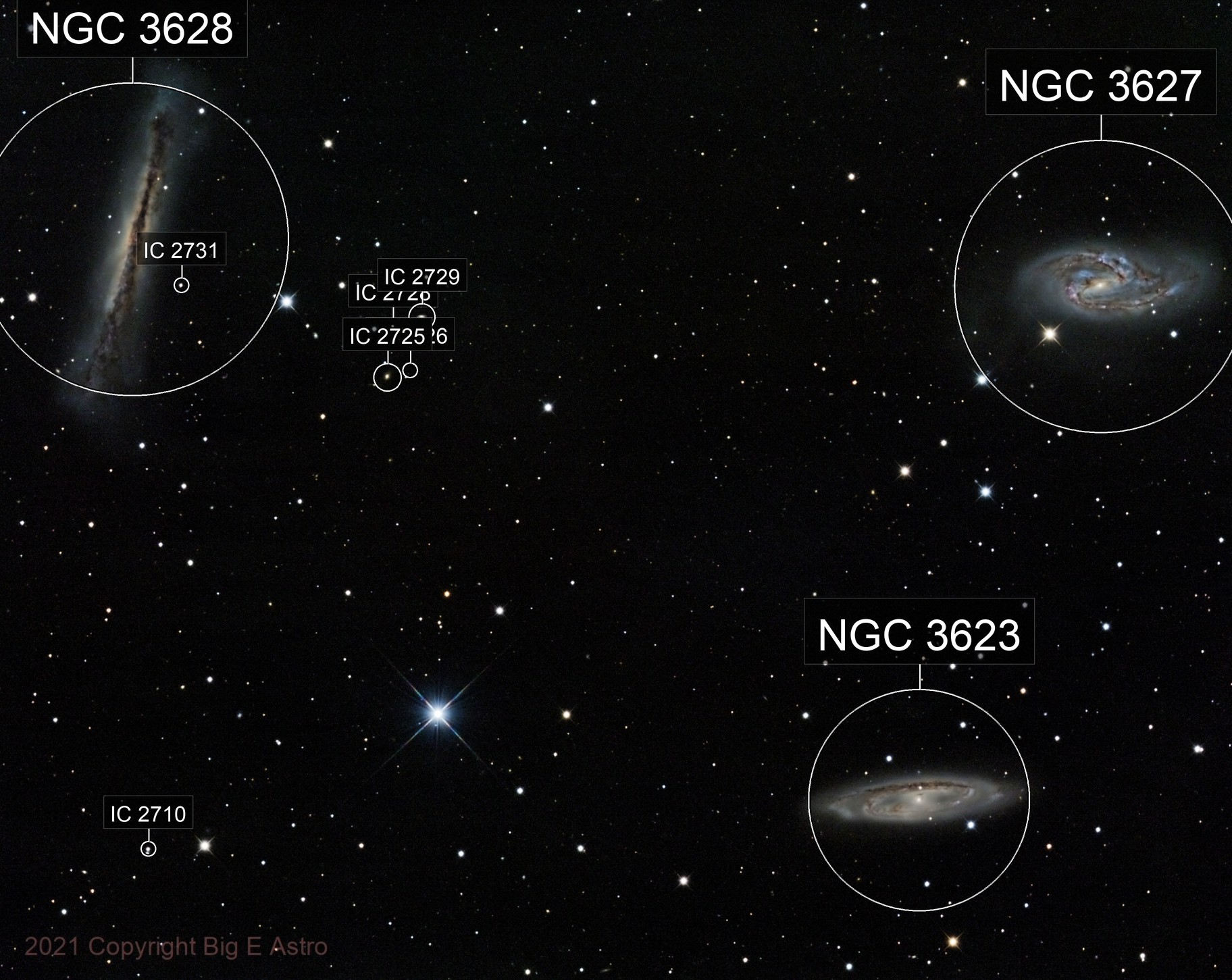 Put A Star On That Order OF A Hamburger And Two Fries M65, M66, NGC3628