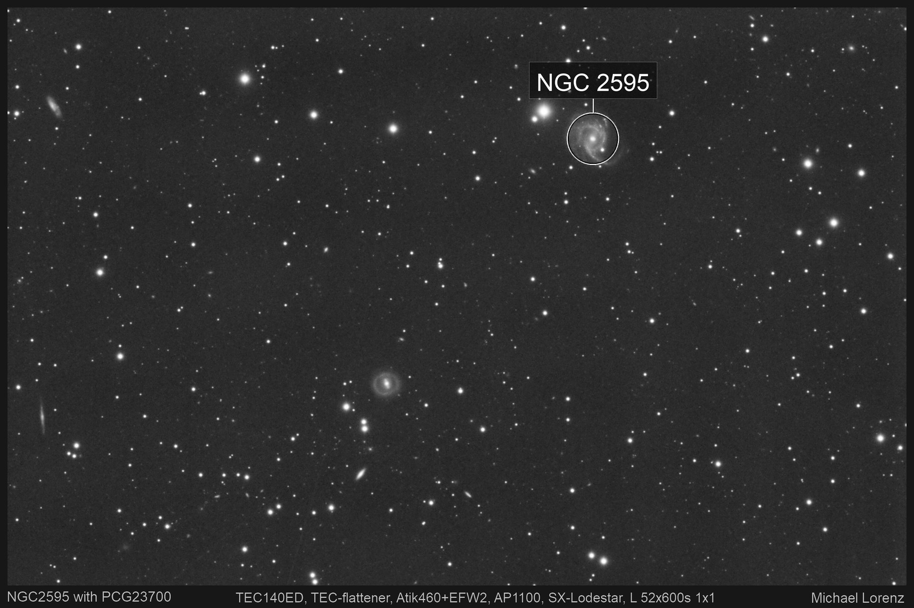 NGC2595 with ring galaxy PGC23700
