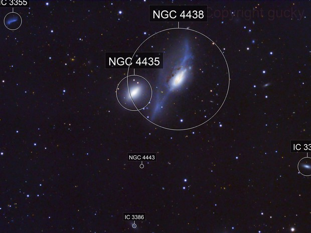 NGC4438 - The Eyes