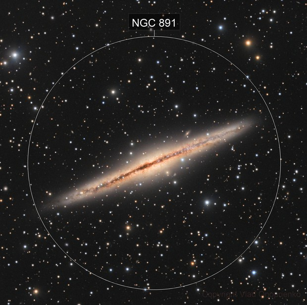 Spiral Galaxy NGC 891.