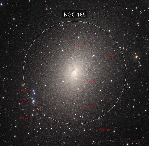 NGC 185. Alien stars.